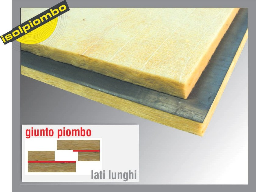 Sound insulation and sound absorbing felt with lead-laminate SUPERPIOMBOVER by Thermak by MATCO
