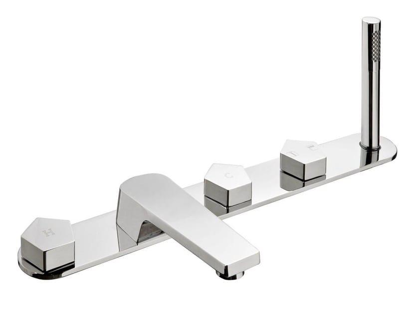 5 hole bathtub set with hand shower PARK | Bathtub set - NEWFORM