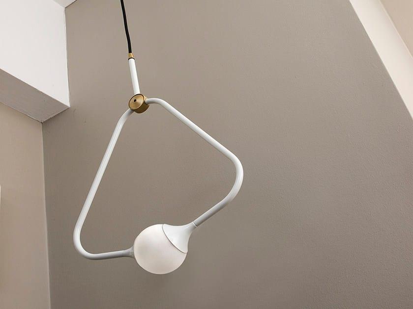 Direct light halogen pendant lamp MEDAL WHITE - Intueri Light