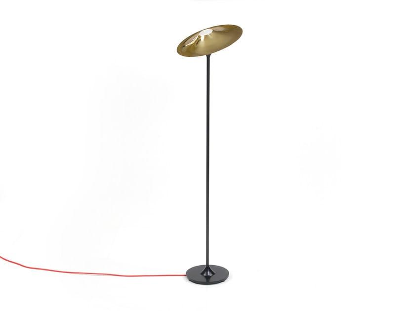 Halogen brass floor lamp SKEW BLACK | Floor lamp by Intueri Light