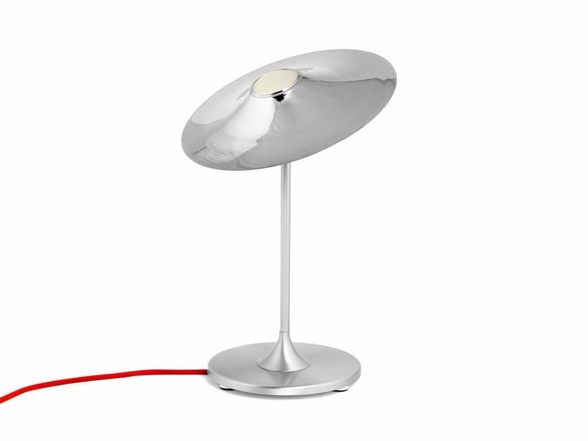 Halogen nickel table lamp SKEW | Nickel table lamp - Intueri Light