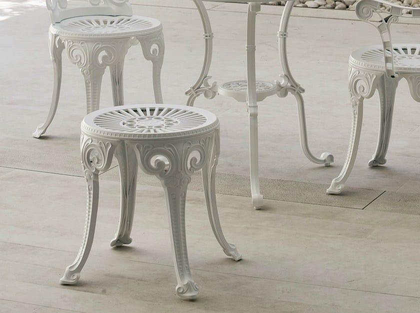 Low aluminium garden stool NARCISI | Stool - FAST