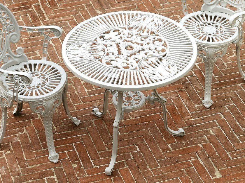 Round aluminium garden table NARCISI | Table - FAST