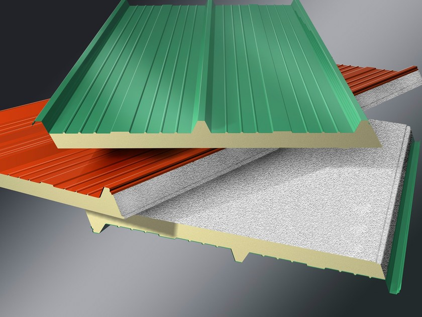 Insulated metal panel for roof MONOLAMIERA 3 - ISOTECNICA