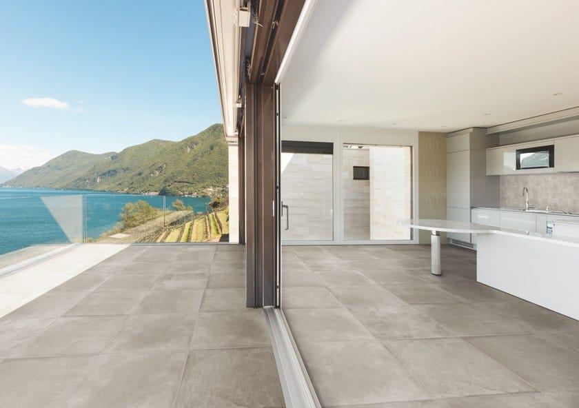 Porcelain stoneware outdoor floor tiles with stone effect PIETRA BAUGÉ | Outdoor floor tiles by Casalgrande Padana