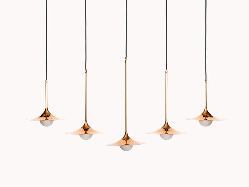 Direct light halogen copper pendant lamp SS-5 WITH DISC | Copper pendant lamp by Intueri Light