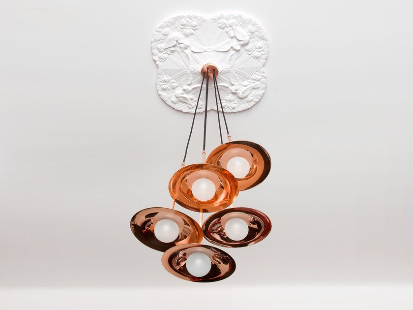 Halogen copper pendant lamp SS-5 WITH DISC | Copper pendant lamp - Intueri Light