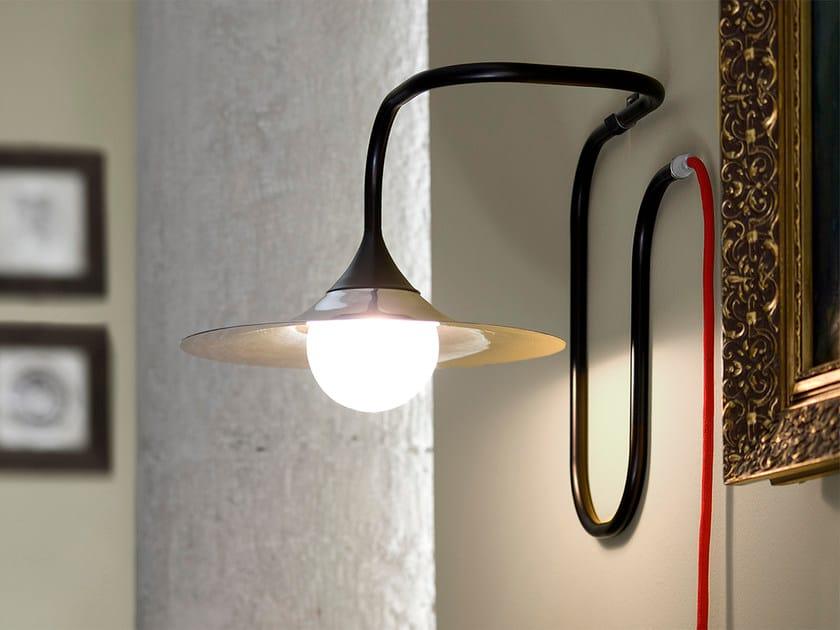 Halogen handmade wall lamp TURBAYA BLACK | Wall lamp - Intueri Light