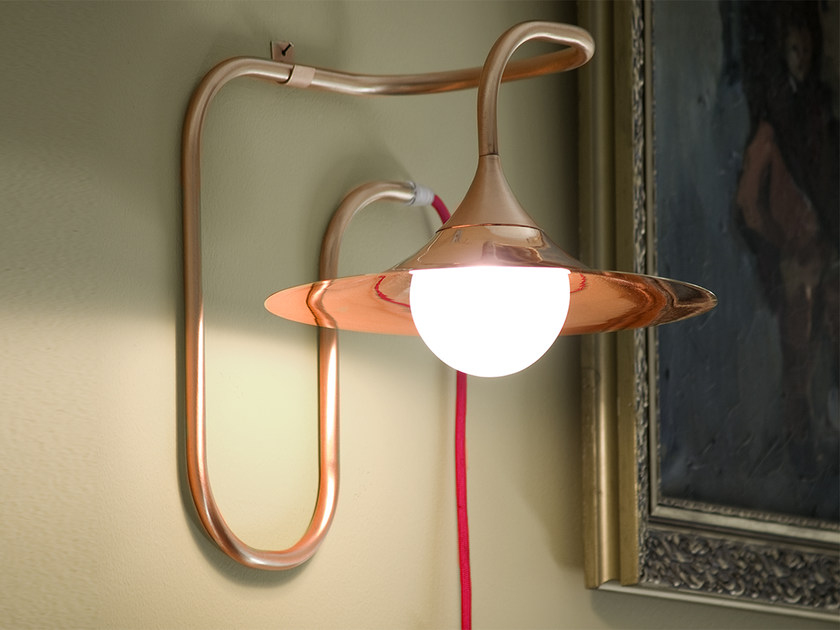Copper wall lamp with fixed arm TURBAYA | Copper wall lamp - Intueri Light