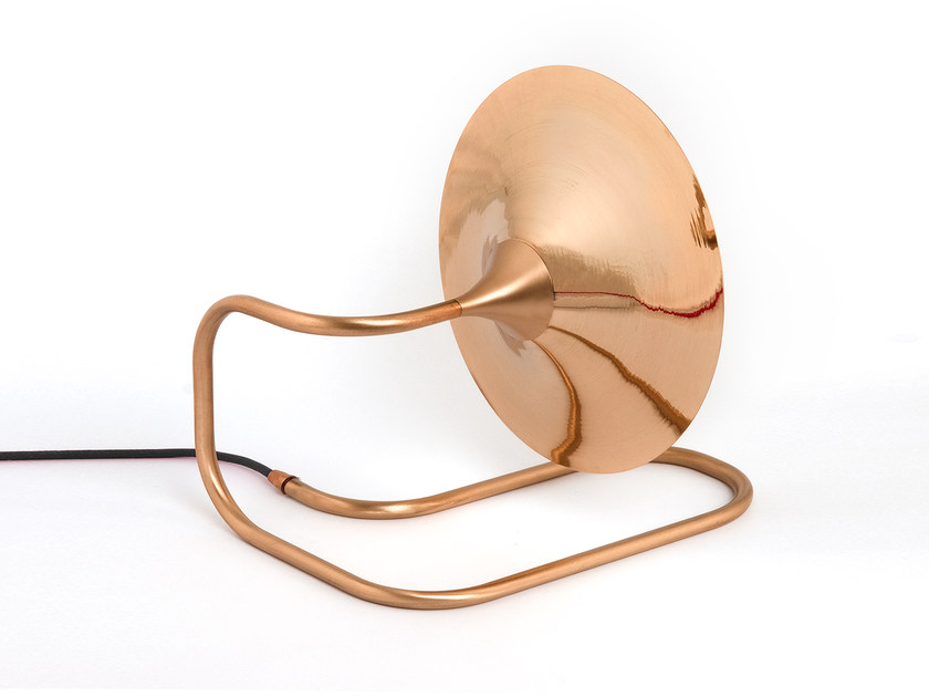 Direct light copper table lamp TURBAYA | Table lamp - Intueri Light