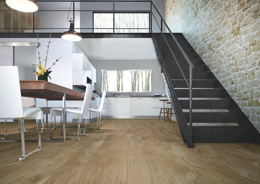 Pavimento in gres porcellanato effetto legno ulivo - Piastrelle casalgrande padana ...