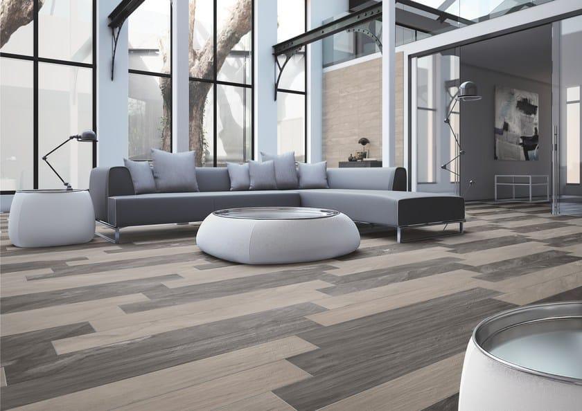 Pavimento in gres porcellanato effetto legno ulivo - Piastrelle vetrificate ...