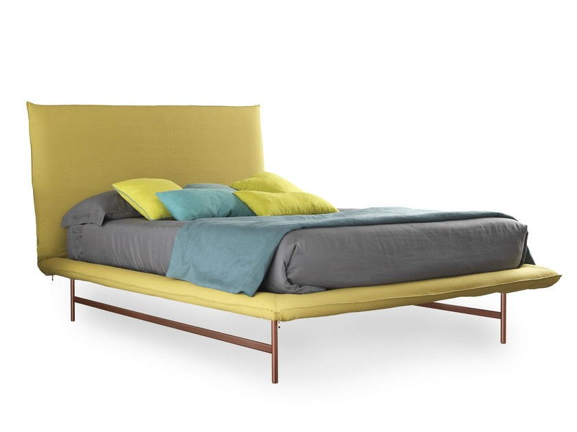 Fabric double bed FAIR LIGHT - Bolzan Letti