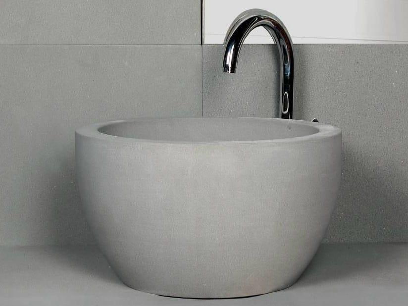 Countertop round natural stone washbasin TULIP - DANILO RAMAZZOTTI ITALIAN HOUSE FLOOR