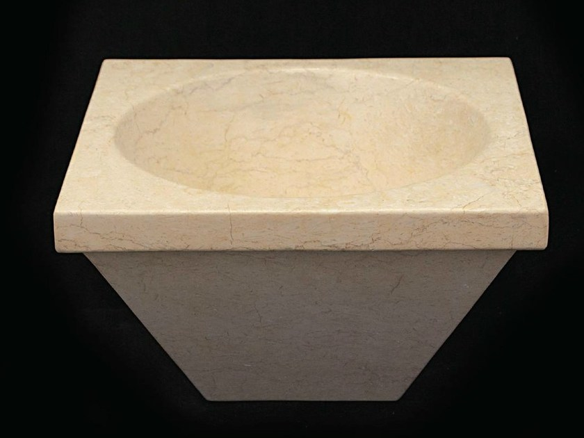 Inset natural stone washbasin IOTA - DANILO RAMAZZOTTI ITALIAN HOUSE FLOOR
