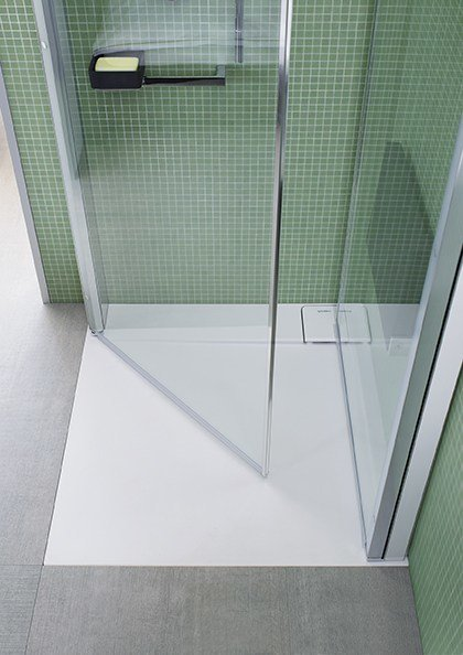 Cabine de douche d 39 angle openspace b by duravit design eoos for Cabine bain douche angle