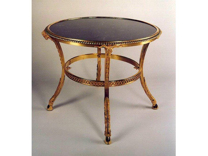Round bronze table 41905 | Round table by Tisserant