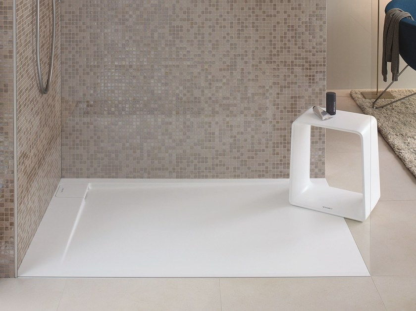 Flush fitting DuraSolid shower tray P3 COMFORTS | Shower tray - DURAVIT