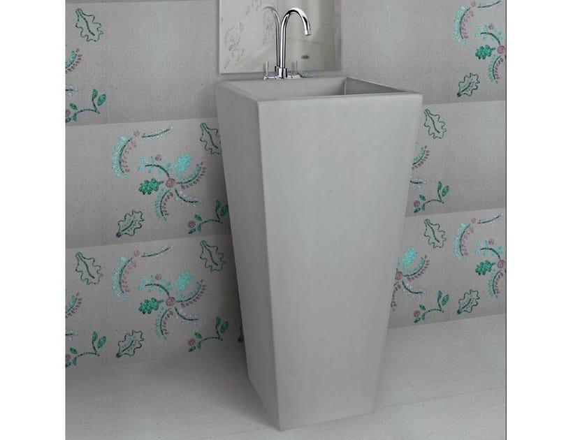 Freestanding square natural stone washbasin PRISMA - DANILO RAMAZZOTTI ITALIAN HOUSE FLOOR