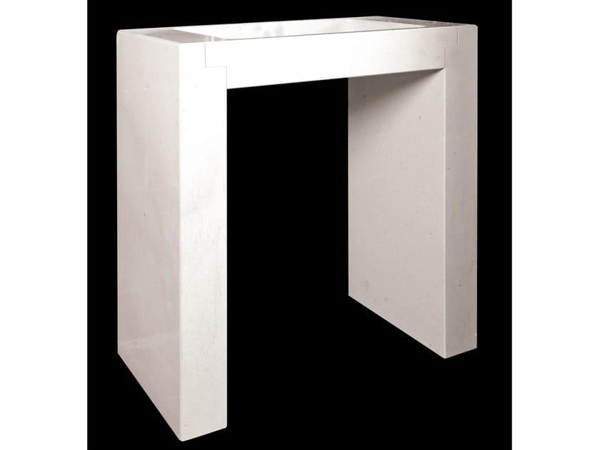 Freestanding rectangular natural stone washbasin UNICO - DANILO RAMAZZOTTI ITALIAN HOUSE FLOOR