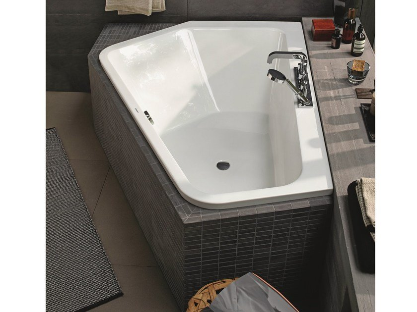 Asymmetric built-in bathtub PAIOVA 5 | Built-in bathtub - DURAVIT