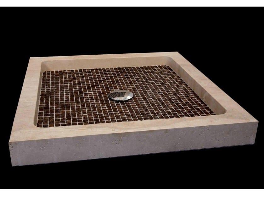 Square natural stone and coconut shower tray BORA BORA | Shower tray - DANILO RAMAZZOTTI ITALIAN HOUSE FLOOR