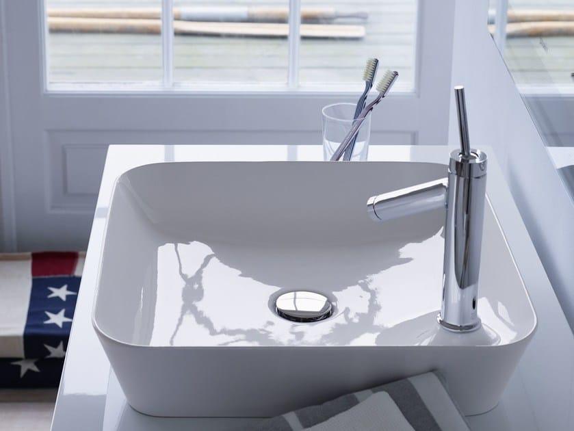 DuraCeram countertop square washbasin CAPE COD | Square washbasin - DURAVIT