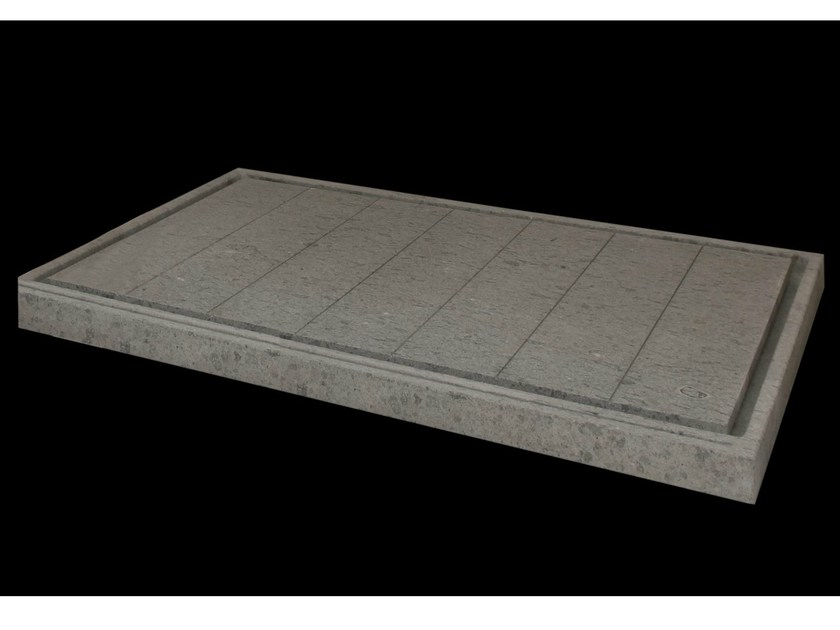 Rectangular natural stone shower tray DIAMANTE - DANILO RAMAZZOTTI ITALIAN HOUSE FLOOR