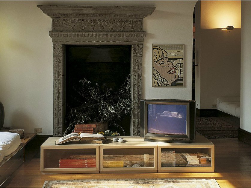 Modular ash sideboard with drawers TEL | Sideboard by IFT