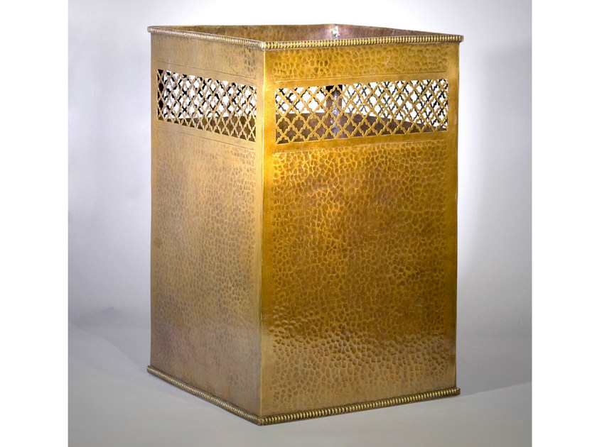 Bronze waste bin 48300 | Waste bin by Tisserant