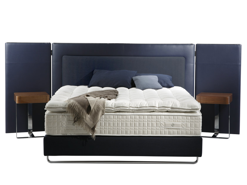 Upholstered headboard with integrated nightstands for double bed ESCALE - Treca Interiors Paris