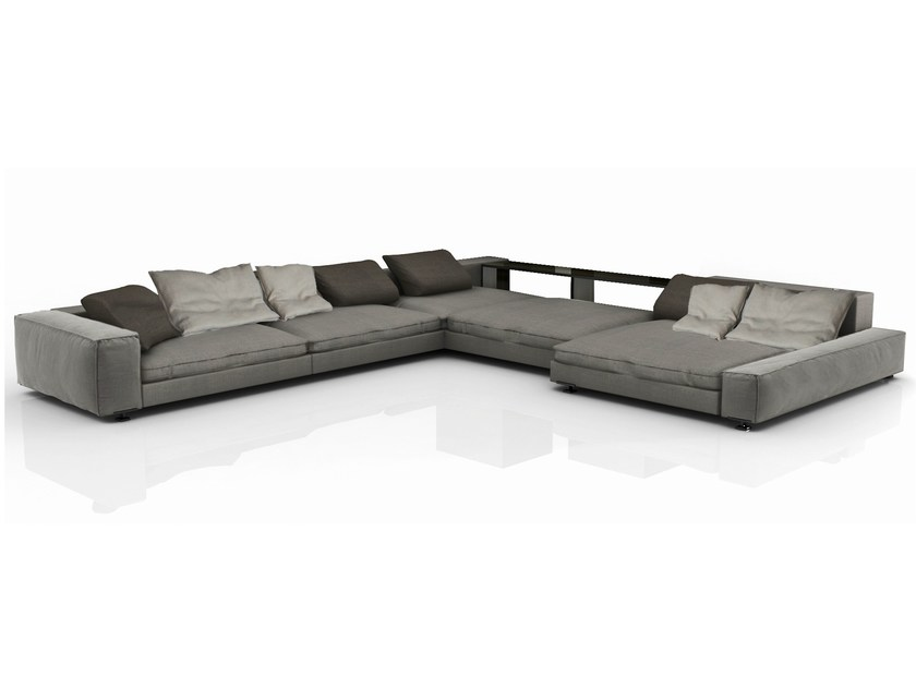 Sectional fabric sofa with removable cover ZAR | Sectional sofa - Nube Italia
