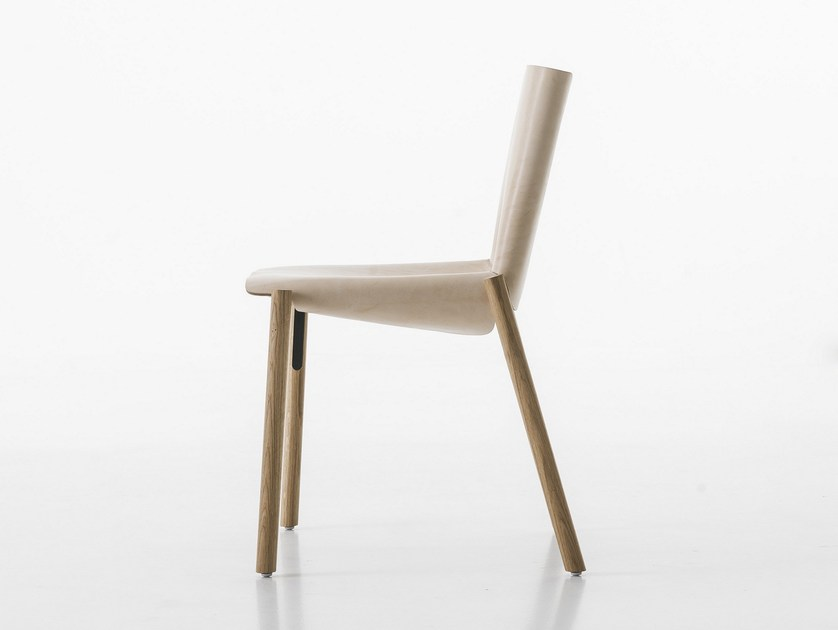 Tanned leather chair 1085 EDITION - Kristalia