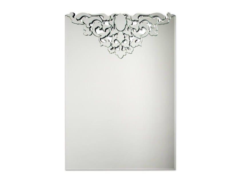 Wall-mounted rectangular mirror DUCHESSE - Veronese
