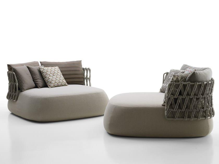 Upholstered garden armchair FAT-SOFA OUTDOOR | Armchair - B&B Italia Outdoor, a brand of B&B Italia Spa