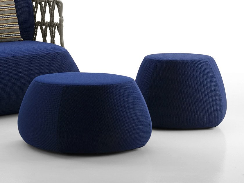 Upholstered garden pouf FAT-SOFA OUTDOOR | Pouf - B&B Italia Outdoor, a brand of B&B Italia Spa