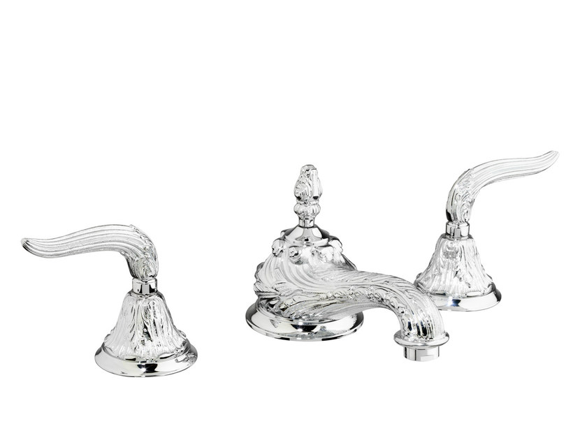 3 hole washbasin tap with individual rosettes 230001.B350.50 | Washbasin tap - Bronces Mestre