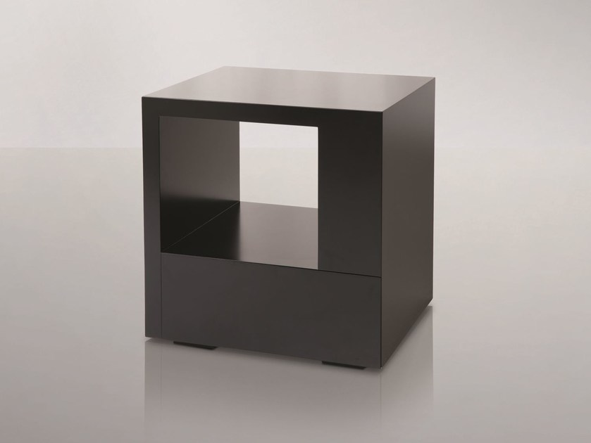 Square wooden bedside table for hotel rooms CITY | Bedside table - Treca Interiors Paris