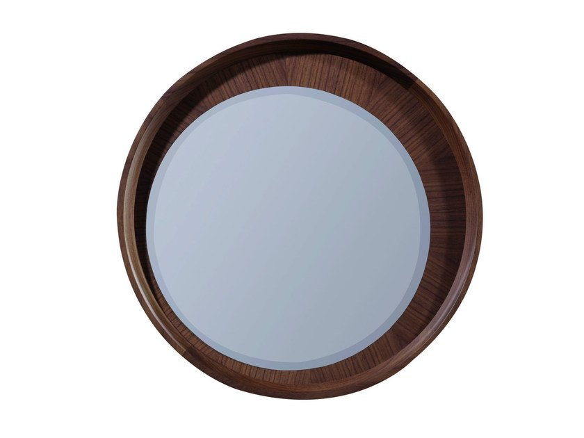 Wall-mounted framed round mirror BEAUCHAMP | Wall-mounted mirror - Treca Interiors Paris