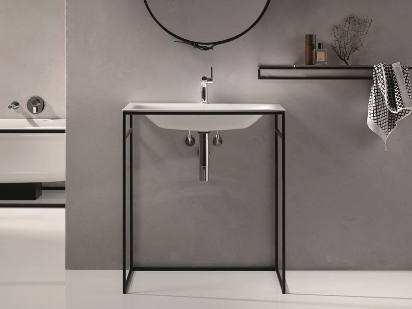 Rectangular single enamelled steel washbasin BETTELUX SHAPE | Washbasin - Bette