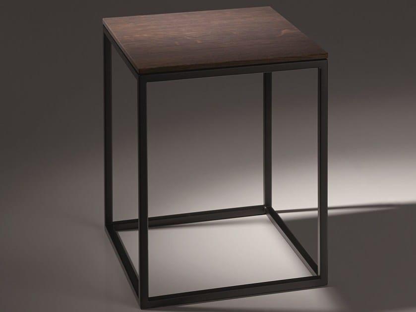 Steel and wood bathroom stool BETTELUX SHAPE | Bathroom stool - Bette