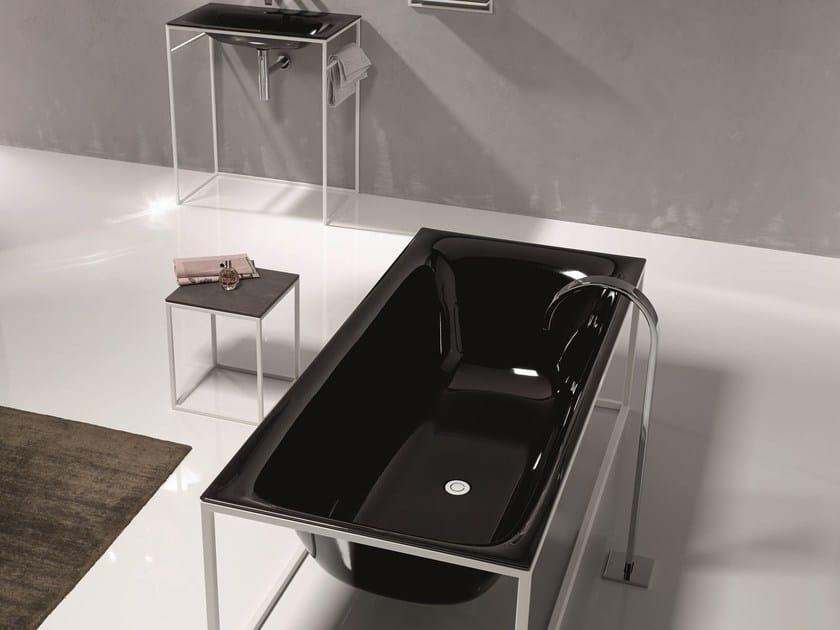 Sgabello per bagno in acciaio e legno bettelux shape sgabello per bagno bette - Sgabello per bagno ...