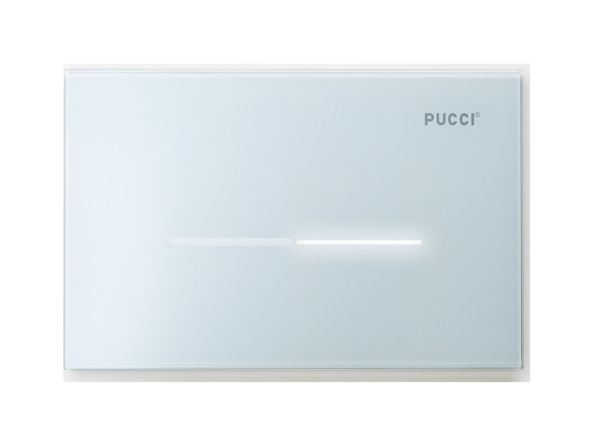 Glass flush plate PUCCI ECO® SFIORO | Flush plate by PUCCIPLAST