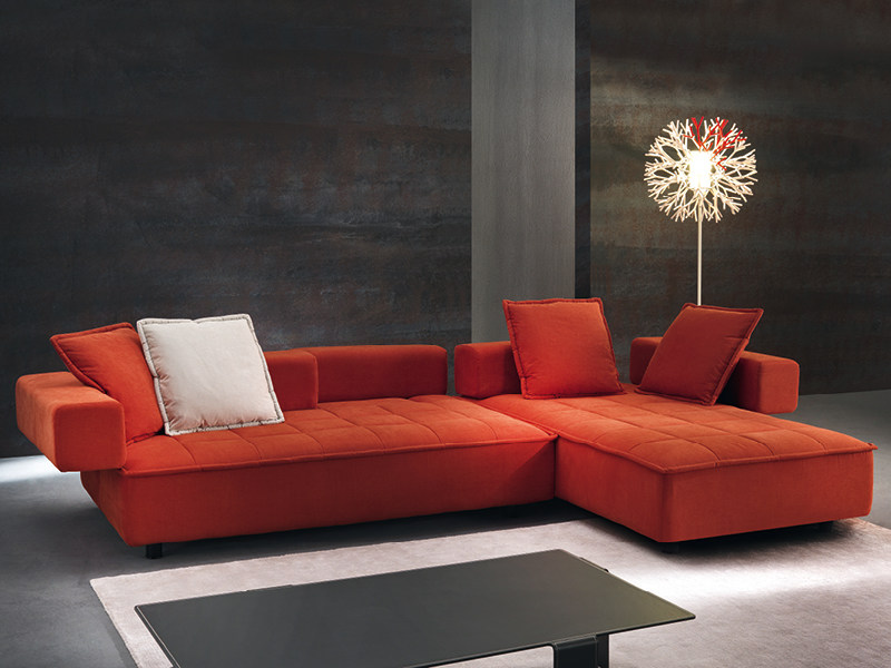 Convertible sofa with chaise longue ZOOM - Divanidea