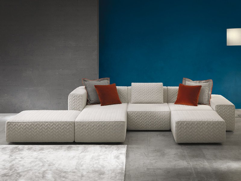 Sectional sofa with chaise longue MOORE | Sectional sofa - Divanidea