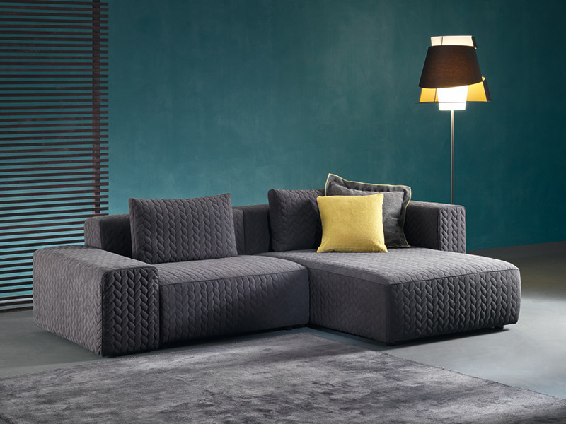 Sectional sofa with chaise longue MOORE | Sofa with chaise longue - Divanidea