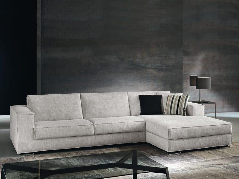 Sofa with chaise longue VISION | Sofa with chaise longue - Divanidea