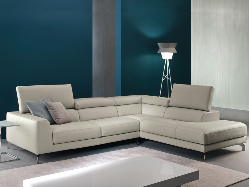 Corner recliner sofa with electric motion ARENA - Divanidea