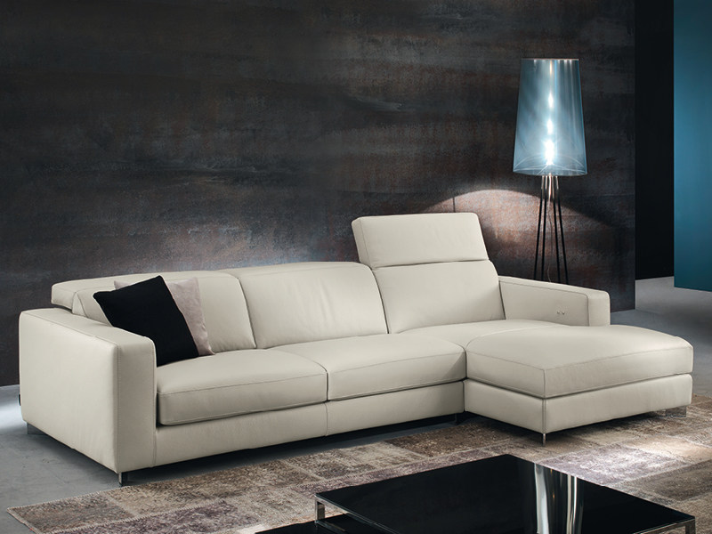 Recliner sofa with chaise longue with electric motion PATIO - Divanidea