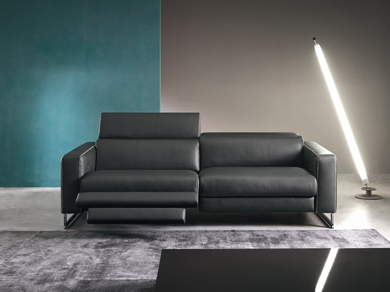 Recliner 3 seater sofa with electric motion SIDNEY - Divanidea